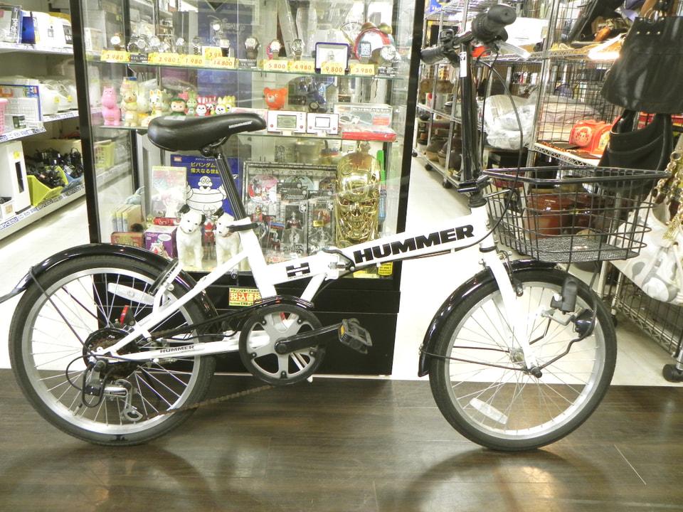 超美品なHUMMERの折り畳み自転車