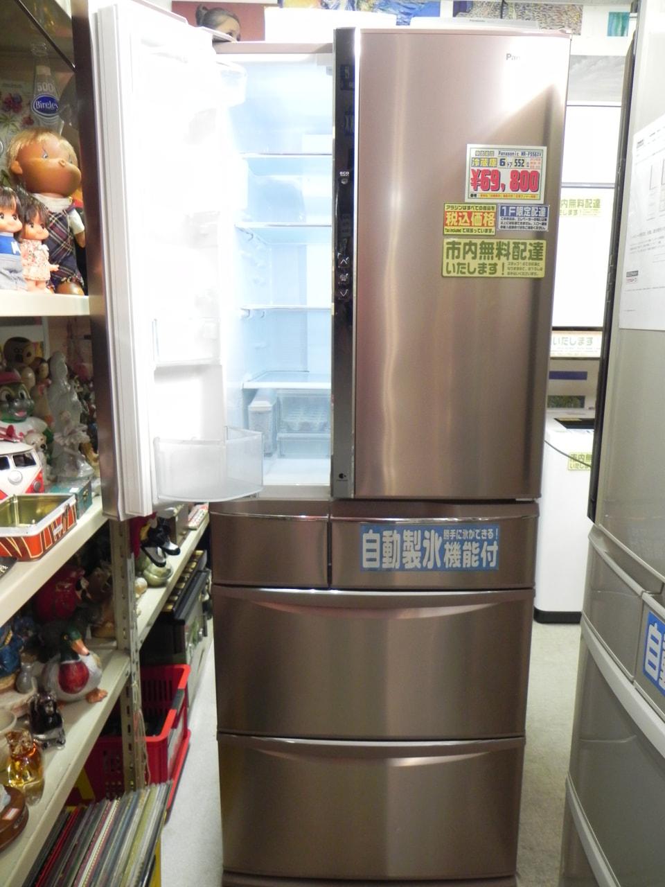 「自動製氷」機能付き6ドア冷蔵庫 Panasonic NR-F556XV