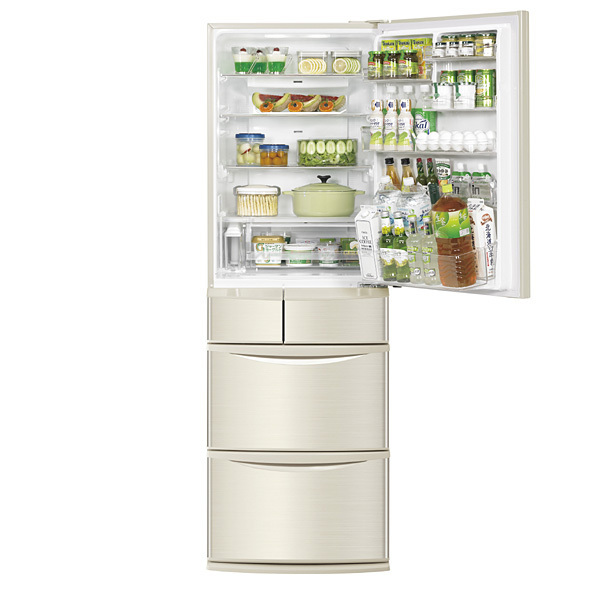 自動製氷付 5ドア冷蔵庫入荷。市内配達無料!